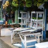 DSC_5516 Mercato del pesce di Kolonia sotto l'acquazzone