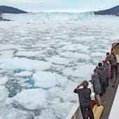 DSC_4663 Pancake ice in avvicinamento al ghiacciaio Eqip Sermia