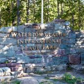 Ingresso del Glacier Waterton International Peace Park  alla frontiera canadese