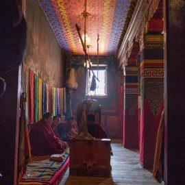 Preghiera dei monaci di Labrang